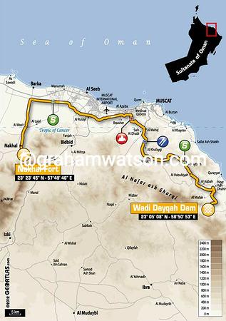 Tour of Oman Stage 3:  Nakhal Fort - Wadi Dayqah Dam 190 km