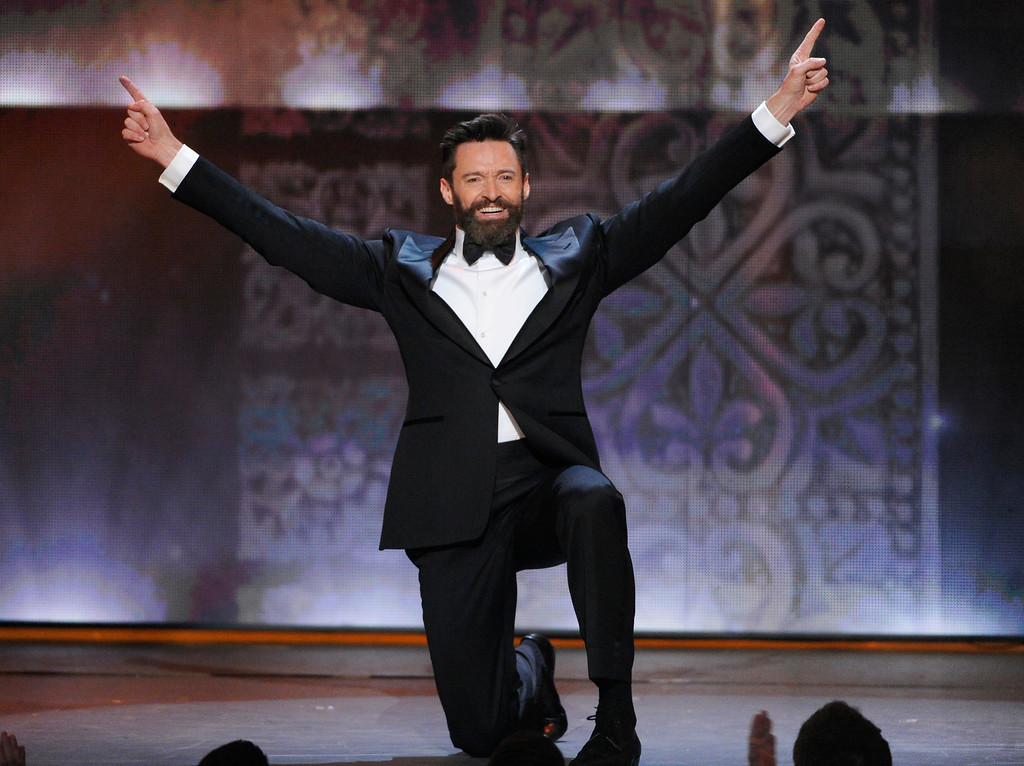 . Host Hugh Jackman performs onstage at the 68th annual Tony Awards at Radio City Music Hall on Sunday, June 8, 2014, in New York. (Photo by Evan Agostini/Invision/AP)