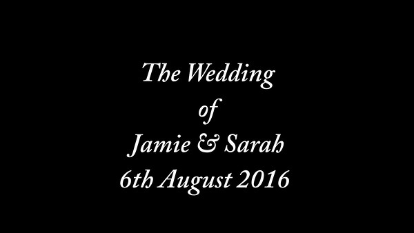Jamie & Sarah wedding video