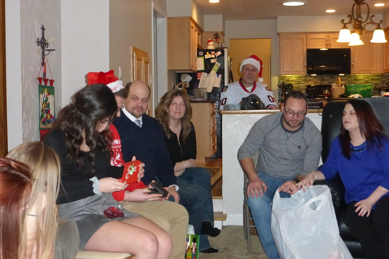 Ally opening up her gifts