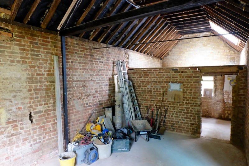Annex works – empty shell with scaffold
