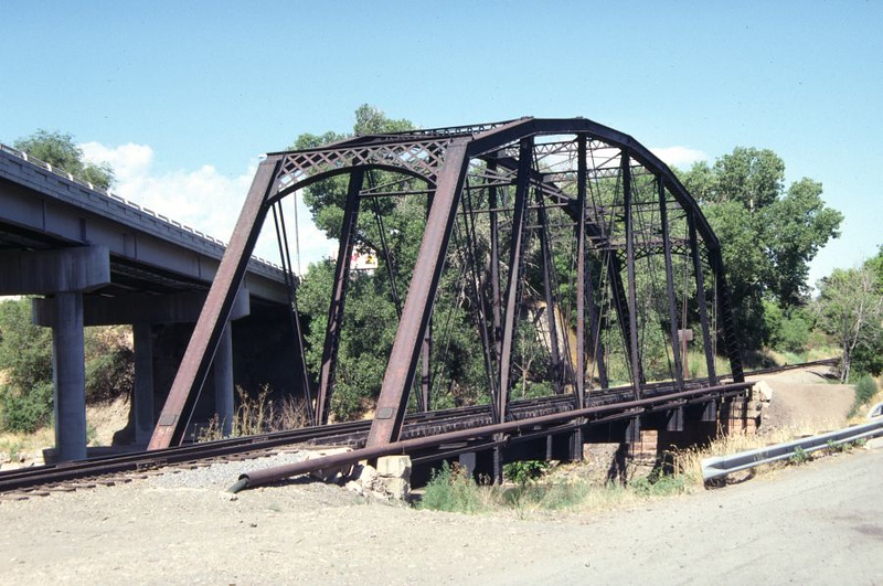 UPRR Evona Branch, Ogden, 1988; built in 1889 to carry the OSL mainline between Ogden and Salt Lake City over the Weber River. <i>(Don Strack Photo, July 1988)</i>