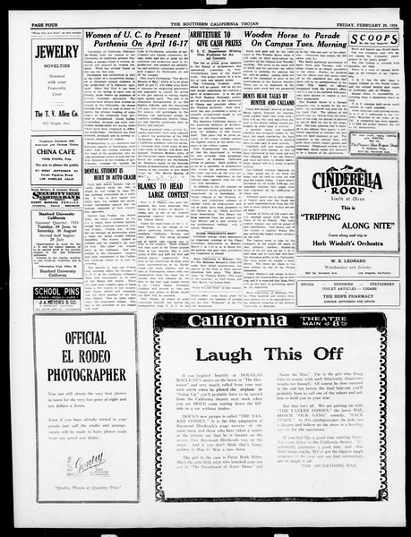 The Southern California Trojan, Vol. 15, No. 56, February 29, 1924