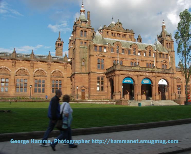 This is the Kelvingrove Art Gallery and Museum in Kelvingrove Park.