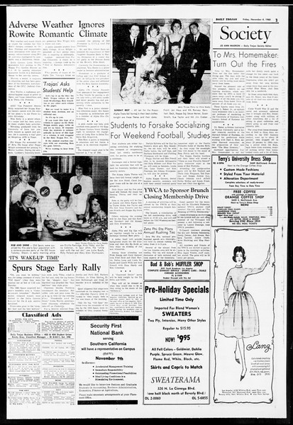 Daily Trojan, Vol. 52, No. 34, November 04, 1960