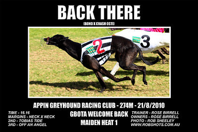 Appin Greyhounds - 21st August 2010