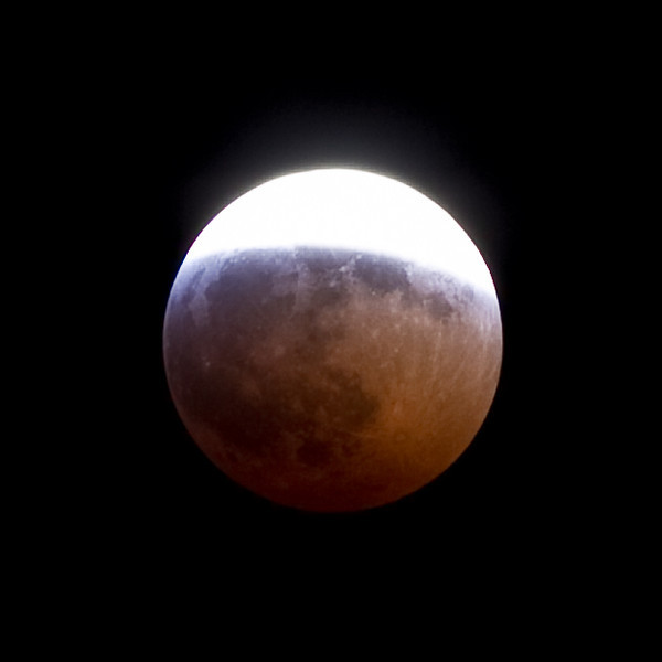 Lunar eclipse before totality