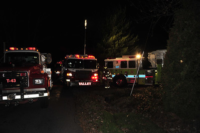 Structure fire - Saams Road in Butler Twp. 10-28-11