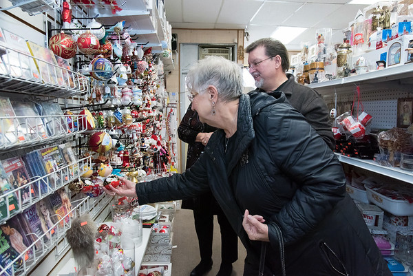 11/30/18 Wesley Bunnell | Staff Christopher Bolek and his mother Sandy Bolek drive from Mass. to Quo Vadis Bookstore & Giftshop a couple of times a year around the holidays to shop for Polish themed gifts.