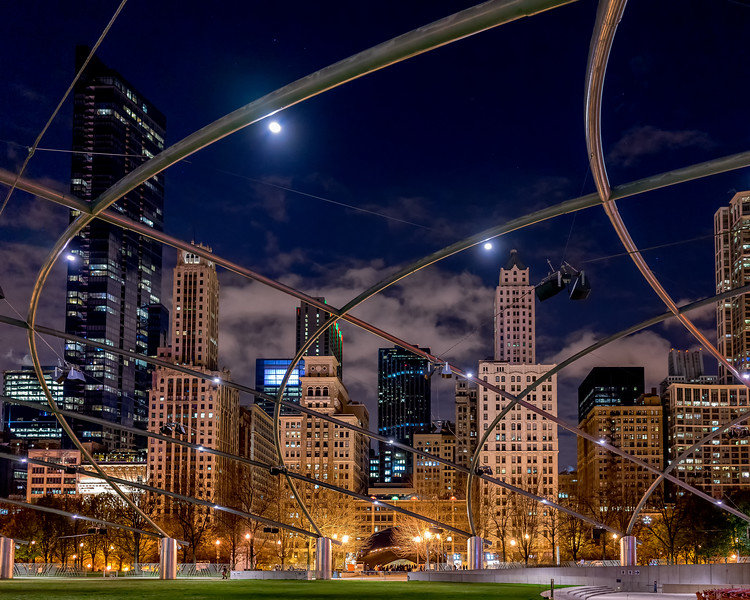 Lines of the Pritzker Pavilion