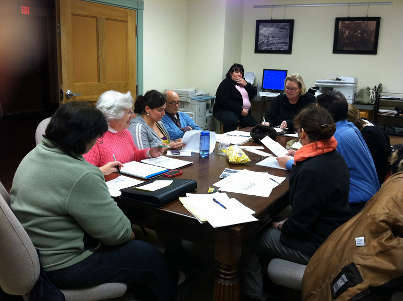Library Campaign Steering Committee meeting, January 5, 2012, at Wistariahurst.