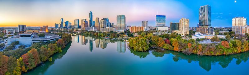 Austin Skyline at sunset, Tue, Nov 20, 2018