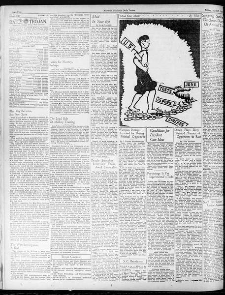 Daily Trojan, Vol. 25, No. 118, April 20, 1934