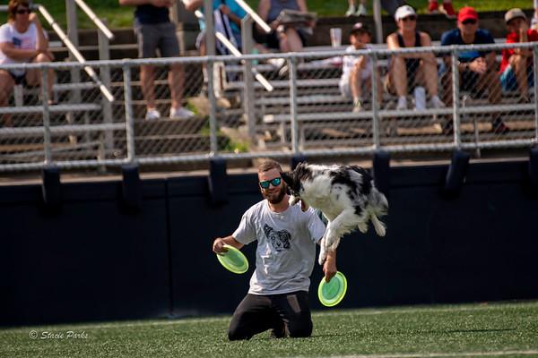 Disc Dog Demo at Soccer Game 2021