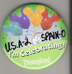 USA 2 Spain 0 DLR Button