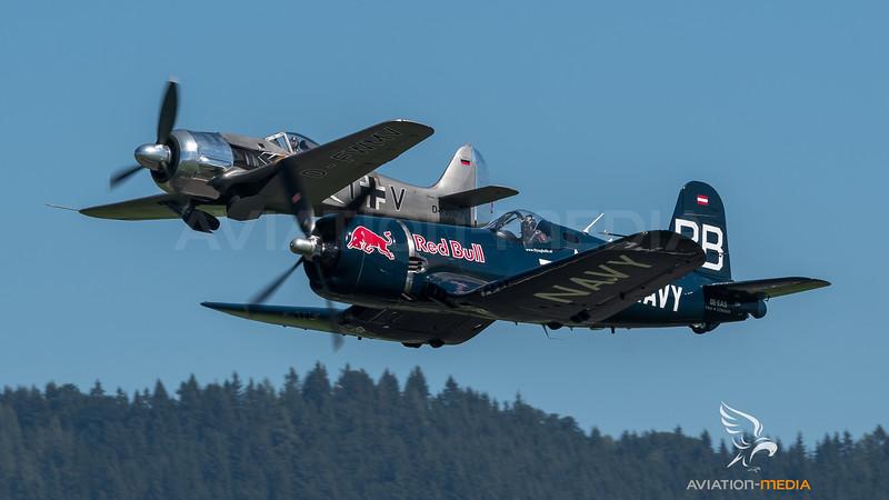 Flying Bulls & Private / Chance-Vought F4U-4 Corsair & Fw-190 A-8M / OE-EAS & D-FWMV