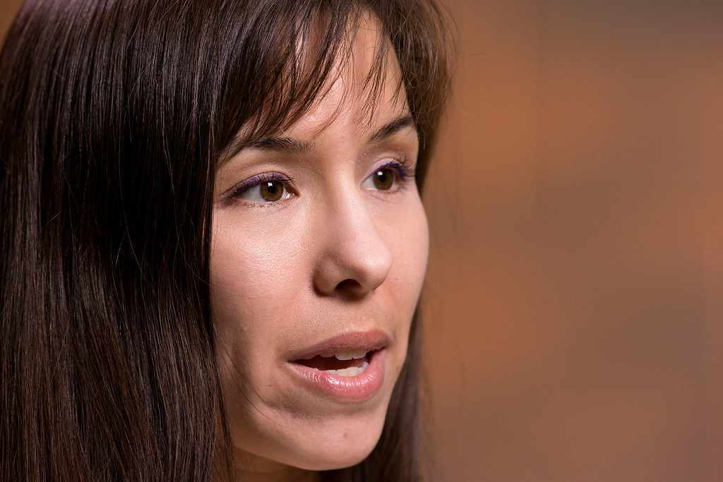 . Jodi Arias gives her first interview since pleading with jurors for her life Tuesday, May 21, 2013 at the Maricopa County Estrella Jail in Phoenix, AZ.  Jodi Arias was convicted of first-degree murder in the stabbing and shooting to death of Travis Alexander, 30, in his suburban Phoenix home in June 2008.   (AP Photo/The Arizona Republic, Rob Schumacher)  MAGS OUT, NO SELLS, NO INTERNET