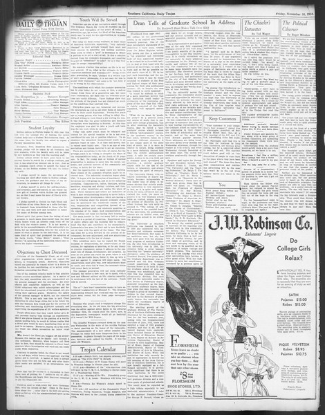 Daily Trojan, Vol. 24, No. 49, November 18, 1932
