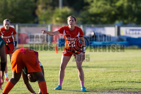 Jones Tigers vs Boone Braves Girls Varsity Flag Football District Championship Game - 2015