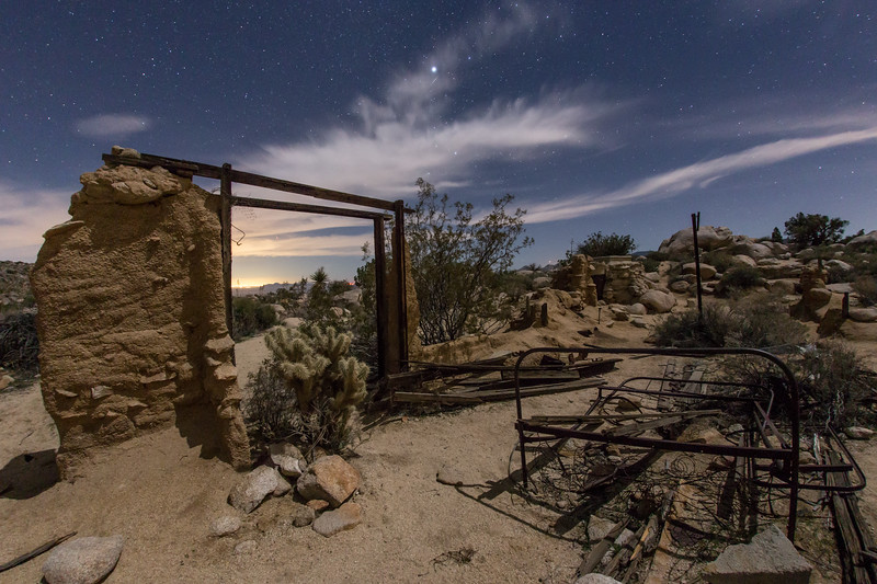 Ruins of the Marshal South house atop Ghost Mountain