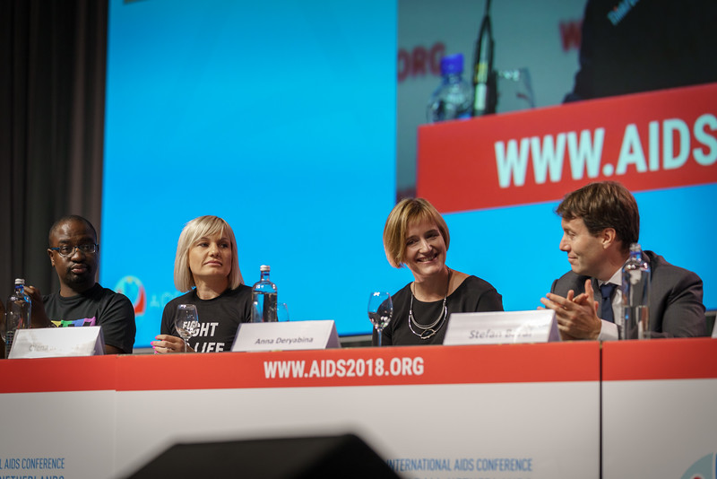 22nd International AIDS Conference (AIDS 2018) Amsterdam, Netherlands.   Copyright: Matthijs Immink/IAS  PLENARY Breaking barriers of inequity in the HIV response  Photo shows: