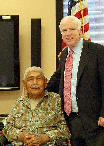 Sen. McCain Visit to Phoenix VA Hospital