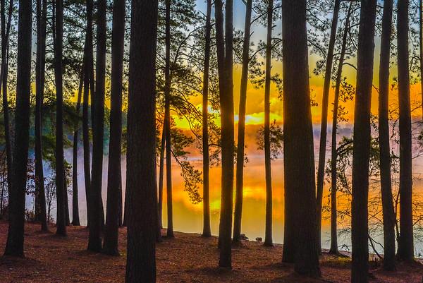 Lake Fog & Sunrise - 12-25-19