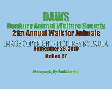 DAWS ~ Danbury Animal Welfare Society ~  21st annual Walk for Animals ~ Bethel CT ~ September 26, 2010