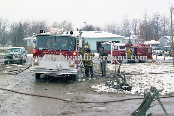 3/25/79 - Meridian Twp house fire, 6314 High St