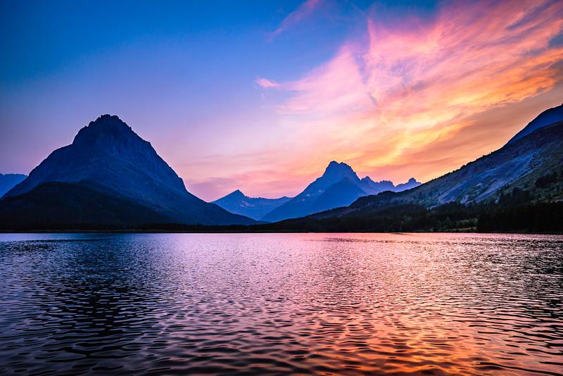 Swiftcurrent Lake Sunset