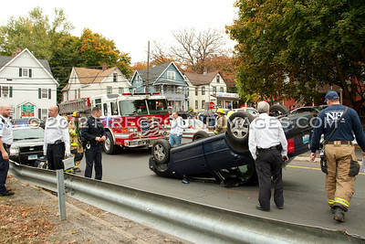 Route 8N Exit 14 Rollover (Shelton, CT) 10/25/12