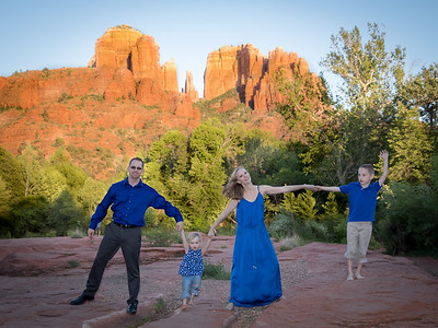 Corey and Family at Red Rock Crossing