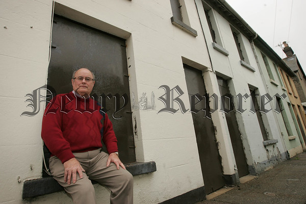 Pictured in Sinclair Street which was demolished as part of the Canal Street Regeneration Programme on Tuesday is Jim Dalzell who lived in No.4 Sinclair for over 23 years. Picture Peter Clarke. 07W33N30