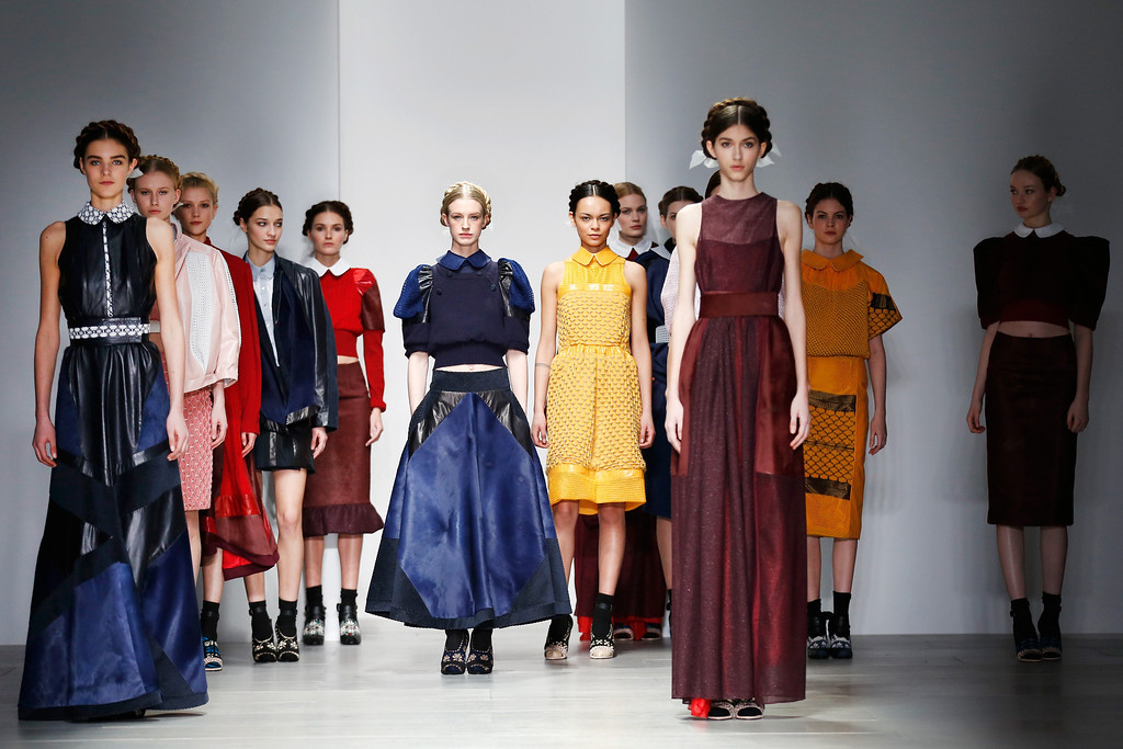 . Models walk the runway at the Bora Aksu show at London Fashion Week AW14 at Somerset House on February 14, 2014 in London, England. (Photo by Tristan Fewings/Getty Images)