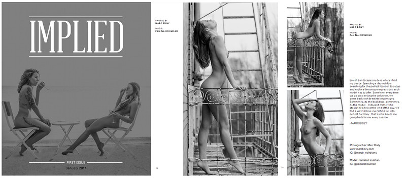 Implied Magazine  | January issue  | Pamela Houlian - Sur Le Balcon | 01.2017