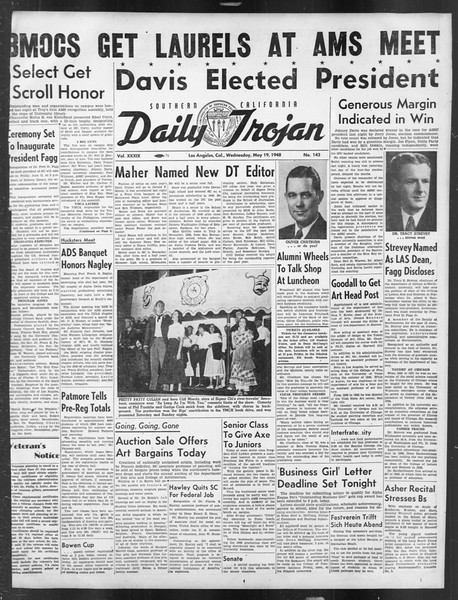 Daily Trojan, Vol. 39, No. 143, May 19, 1948