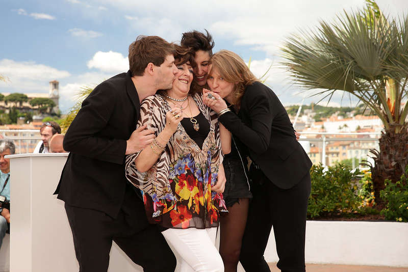 """. (L-R) Co-director/actor Samuel Theis, actress Angelique Litzenburger, co-director Claire Burger and co-director Marie Amachoukeli attend the \""""Party Girl\"""" photocall at the 67th Annual Cannes Film Festival on May 15, 2014 in Cannes, France.  (Photo by Neilson Barnard/Getty Images)"""