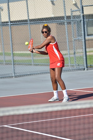 Girls Tennis Actions Photos