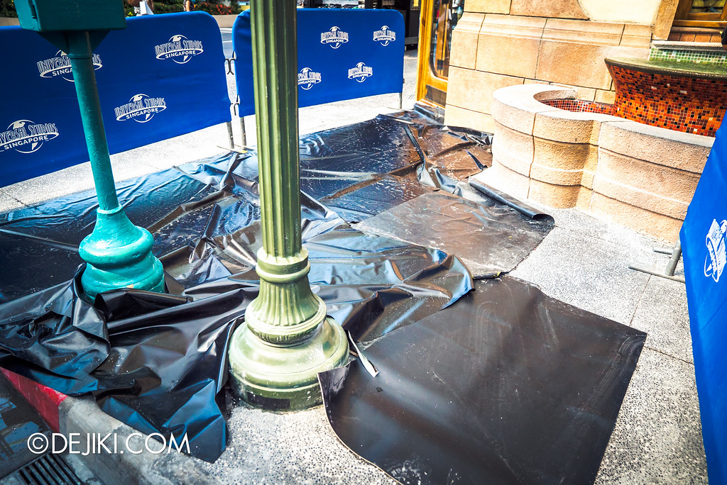 Universal Studios Singapore - Park Update September 2016 / Flooring repair at Hollywood