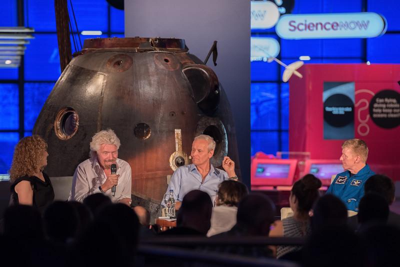 Virgin Galactic Future Astronaughts with Sir Richard Branson and Tim Peake, May 2017