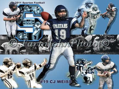 #19 CJ Weiss Football Collage Review