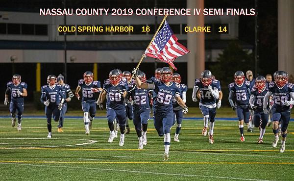 2019 SEMI FINALS     Cold Spring Harbor  16  -  Clarke  14