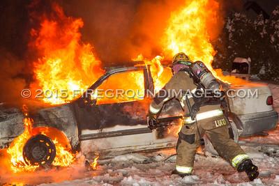 Joseph Court Car Fire (Shelton, CT) 2/22/15