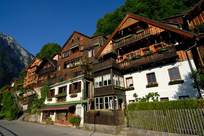 Alpine Houses in Hallstatt, Salzkammergut, Austria