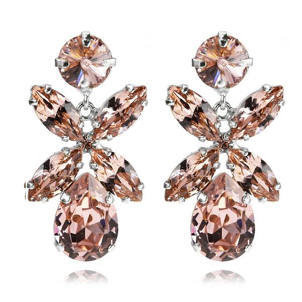 Dione Earrings / Vintage Rose Rhodium