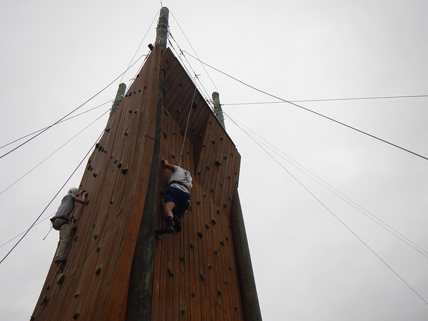 9th Graders at the Climbing Tower