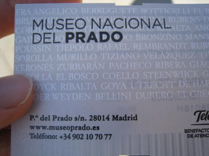 Prado ticket