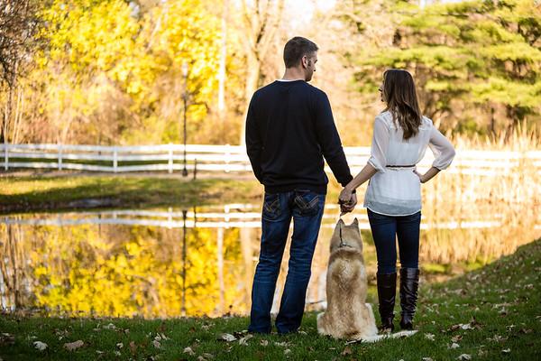 Celery Flats Portage Couple and Dog Family Portraits Earl