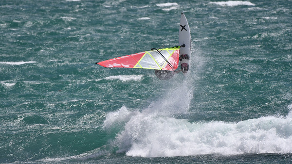 Windsurfing at South Cottesloe Beach 27/12/2016
