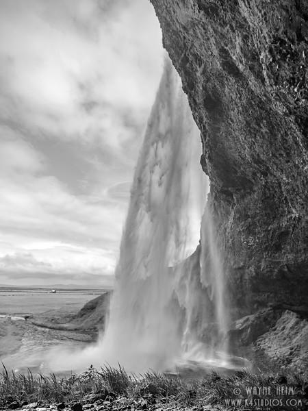 Godafoss  Black & White Photography by Wayne Heim